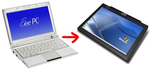 Asus Developing Eee PC Touchscreen Tablet