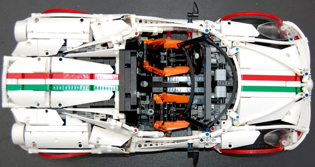 This Lego Alfa Romeo 4C Spider even has a flappy gearbox