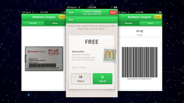 SnipSnap Saves Paper Coupons to Your Phone