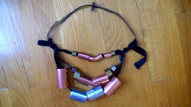 How To Make A Necklace Out Of Things You Can Find At The Hardware Store
