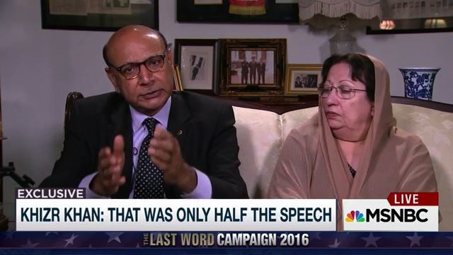 Father Of Fallen Soldier Khizr Khan Calls On Mitch McConnell And Paul Ryan To Repudiate Trump