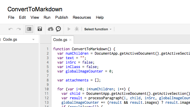 This Script Converts Google Documents to Markdown for Easy Exporting