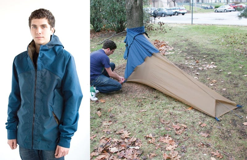 Vessel Coat Doubles as a Backpack, Triples As a Tent