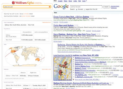 Wolfram Alpha and Google Tested Head-To-Head: Whoever Wins, We Win