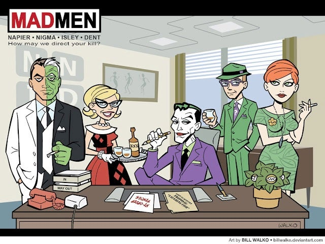 The real Mad Men are the jokers of Arkham Asylum