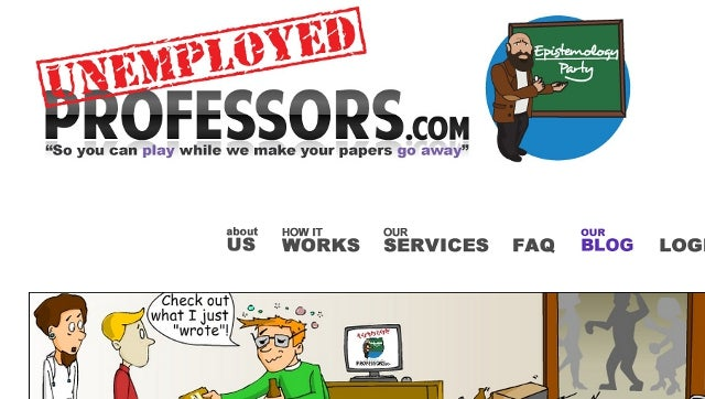Proudly Unethical Website Hires Unemployed College Professors to Write Essays for Students