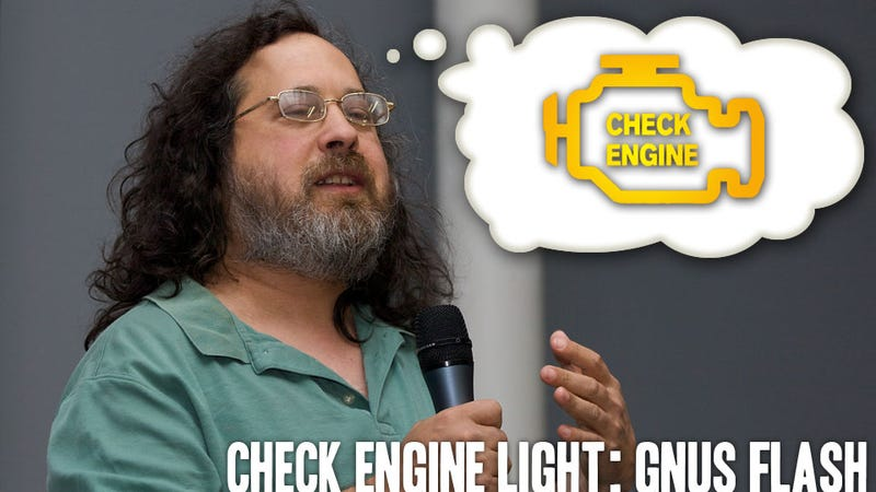 Richard Stallman Weighs In On The Check Engine Light