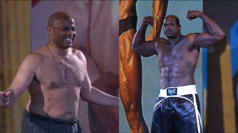 Shaq beat Chuck In TNT's Inside The NBA Shirt-Off Thanks To Fake, Painted-On Abs