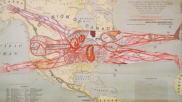 This is maybe the weirdest map of North America ever printed