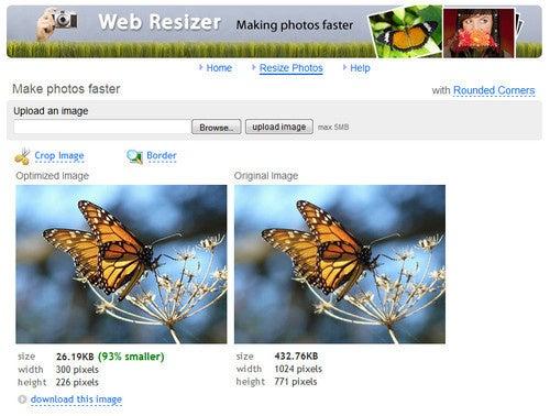 Web Resizer Shrinks Your Photos to Bandwidth-Friendly Sizes
