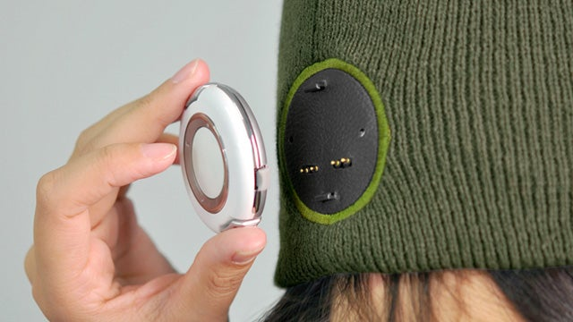 A Borg Implant Lets This Beanie Play MP3s—Resistance Is Futile