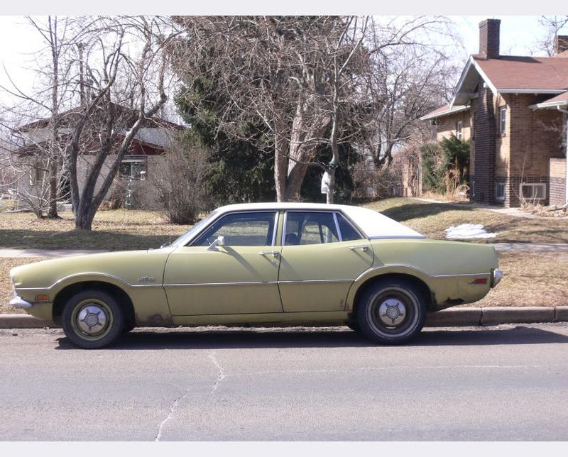 1972 Ford Maverick Sedan Has Survived Many Denver Winters, Will Probably Survive Many More