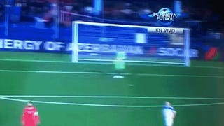 Russian Goalkeeper Takes A Flare To The Back Of His Head [UPDATE]
