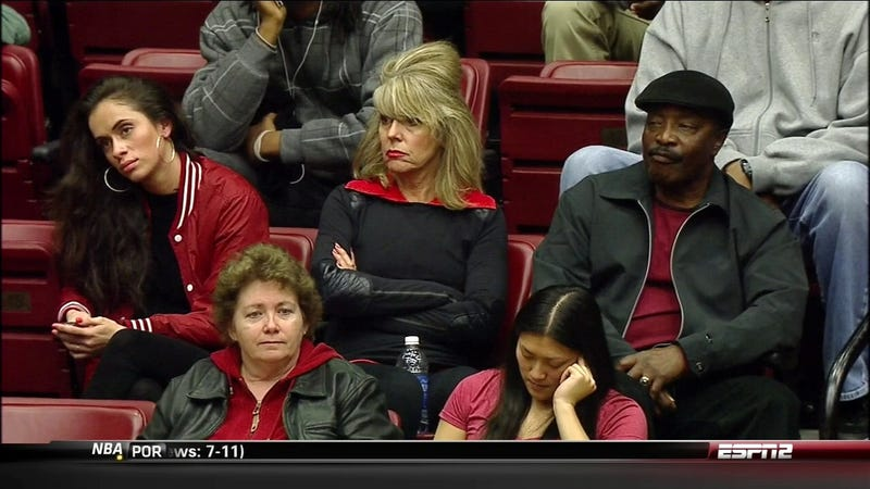 Joe Morgan And Family Find NIT Basketball Enthralling