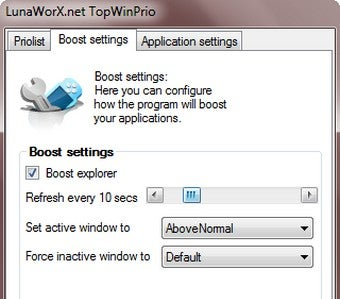 TopWinPrio Boosts the Priority of the Window in Focus
