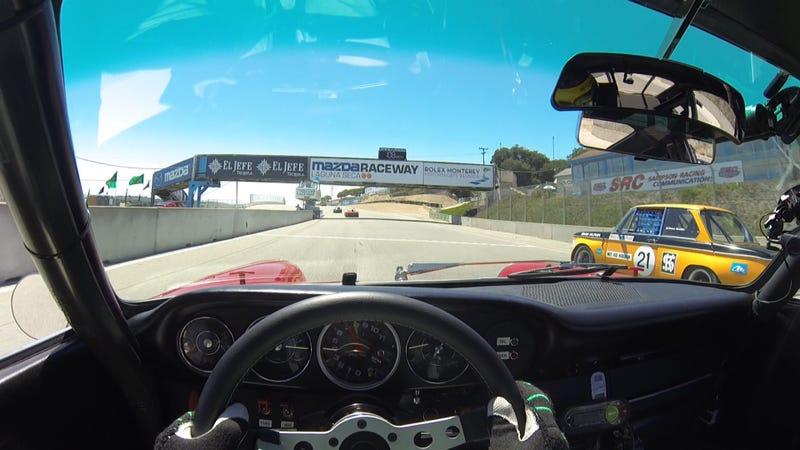 Porsche Factory Driver Pat Long Flogs A Vintage 911 S At Laguna Seca