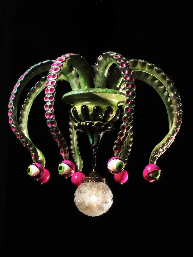 Octopus chandeliers add the right touch of tentacle to any decor