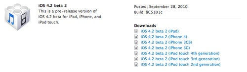iOS 4.2 Beta 2 Now Available to iPhone and iPad Developers