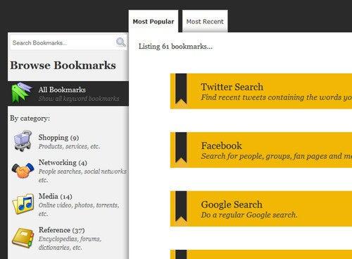 Keyword Bookmarks Catalogs Handy Firefox Keyword Strings
