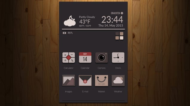 The Sepia Tone Home Screen