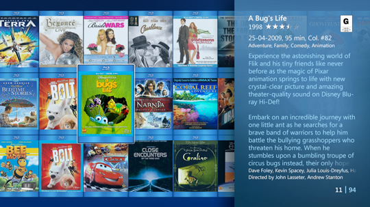 My Movies 3 Is a Beautiful Movie Add-on for Windows Media Center