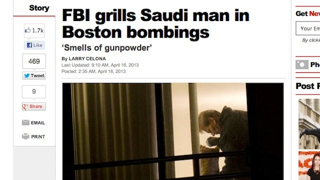 The Vanishing Bomb Suspect: How the New York Post Scooped Reality