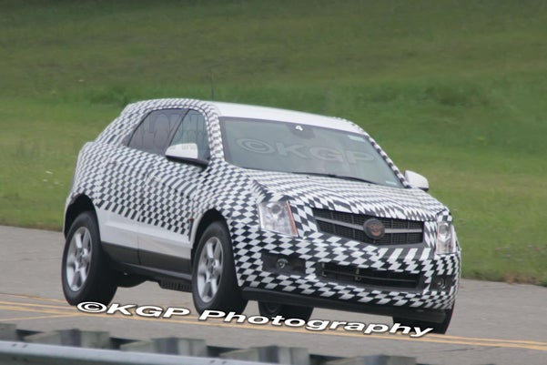 2010 Cadillac SRX Spotted In Minimal, Super Chess Camo