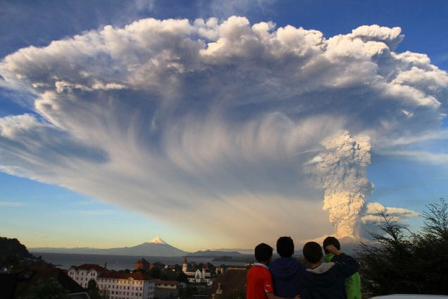 Massive volcano erupts in Chile creating enormous volcanic ash cloud