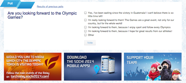 Russian Poll: You Have No Choice But To Be Excited About The Olympics