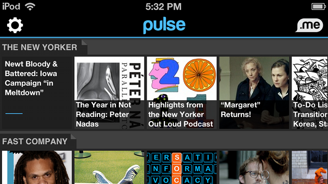 Pulse Updates with a New, Cleaner Interface and a Recommendation Dock