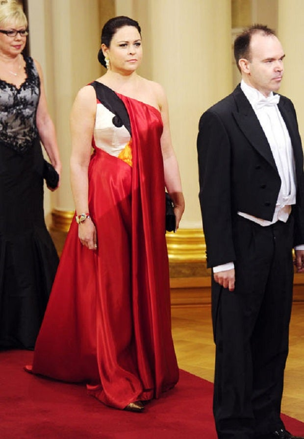 Wife of Rovio Exec Wears Angry Birds Dress to Finnish State Gala