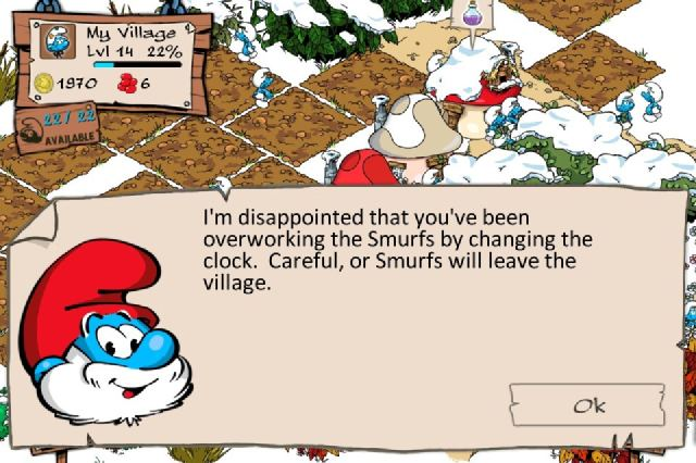 Papa Smurf Is Not Amused By Your Sweatshop Tactics