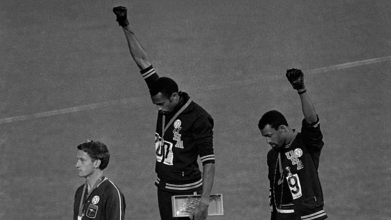 The Black Berets: Red Smith On The Olympic Black Power Salute