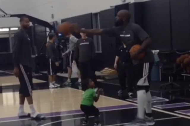 Kings Forward Quincy Acy Teaches Son Not To Bring That Weak Shit