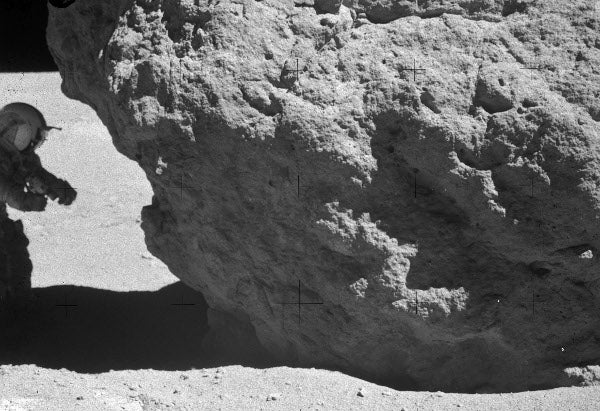 This Is Lunarcrete, a Building Block for Moon Colonies