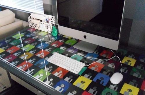 Floppy Disk Desk