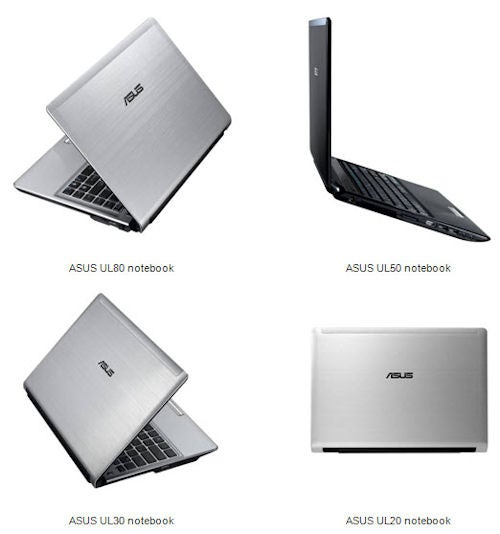 Asus UL Series Laptops: Thin and Light, Focus on Battery Life