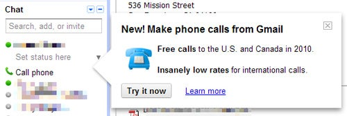 Free Phone Call Integration on Its Way to Gmail?