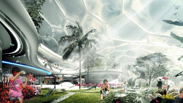 Tron-like House of the Future will be built over a Beijing mall