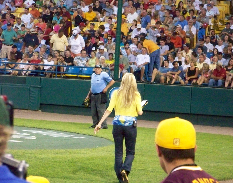 Erin Andrews Is Distracting Everyone At The College World Series
