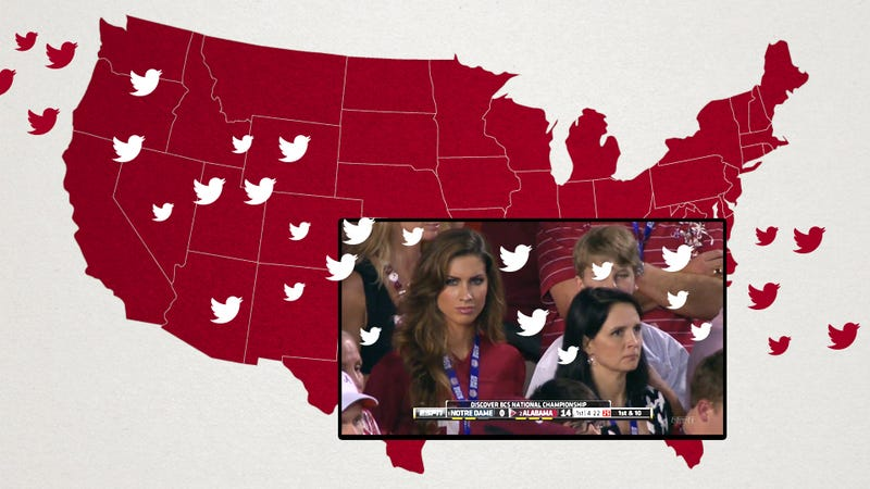 The BCS Championship On Twitter: Here's When Katherine Webb Became More Interesting Than The Game