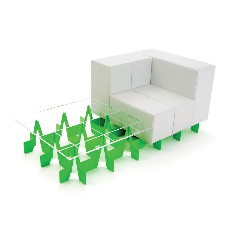 Oi Modular Sofa Makes me Think of Albino Tetris, Shipping Now