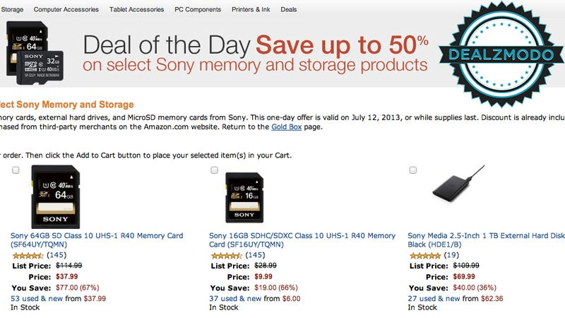 A Whole Lot Of Sony Storage Is Your Deal Of The Day