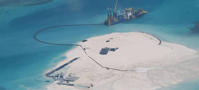 China Says Its Artificial Island Project Will Be Done In a Few Days