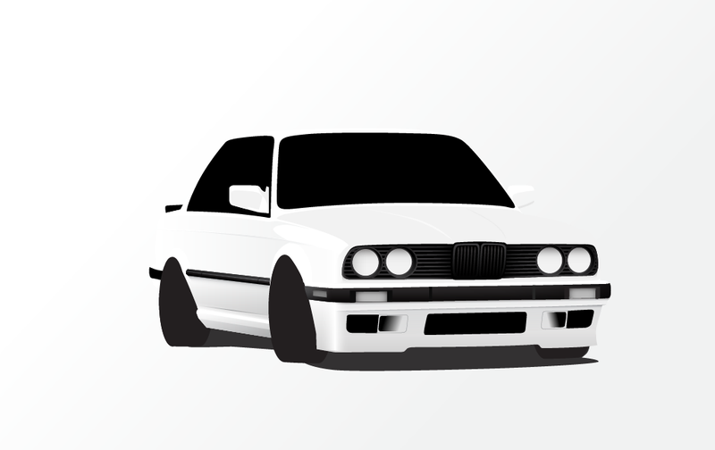 Working on a e30 325is Drawing.