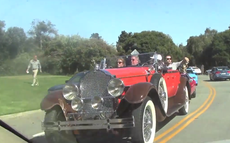 Doug spotted the Packard from my Wallpaper in his Monterey Traffic Video