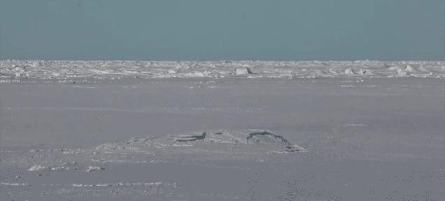 Watch A Nuclear Submarine Surface Through Arctic Ice