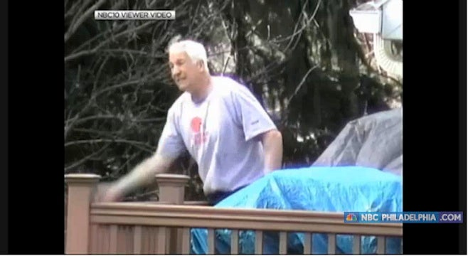 Someone Shot Creepy Video Of Jerry Sandusky Throwing Biscuits To His Dog