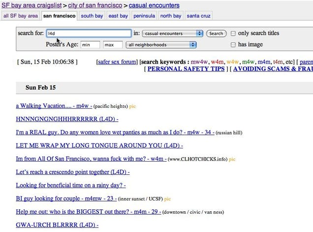 meaning of nsa craigslist  casual encounters