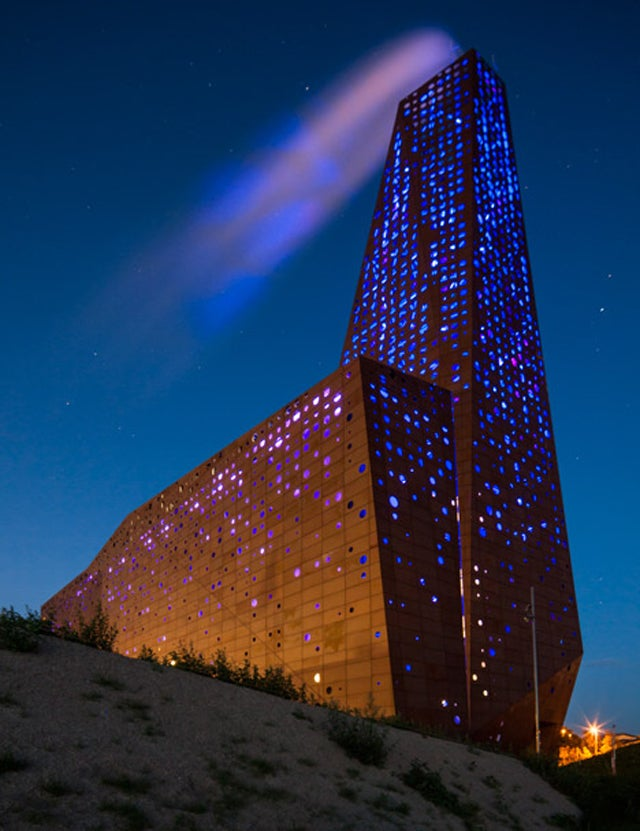 This Waste Incineration Power Plant Glows Like It's On Fire